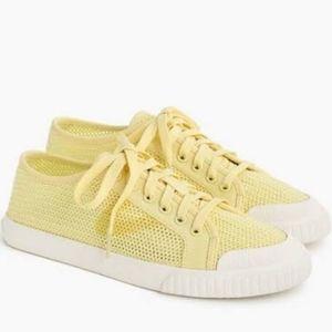 J. Crew x Tretorn Tournament Net Sneakers, Yellow